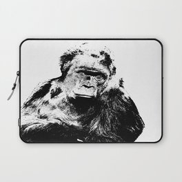 Gorilla In A Pensive Mood Portrait #decor #society6 Laptop Sleeve