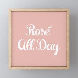 Rosé All Day Framed Mini Art Print