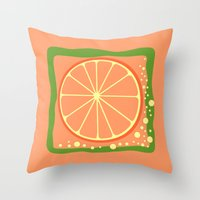 coasters Throw Pillows featuring GRAPEFRUIT by Tanya Pligina
