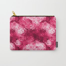 Neon Pink Metallic Patchwork Foil Carry-All Pouch