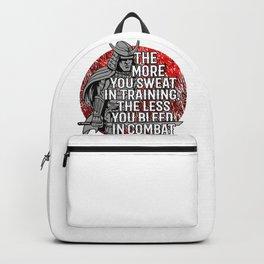 Training Motivation Martial Arts Karate, Jiu Jitsu, Judo, Sambo, Mma, Iaido, Aikido, Kendo Backpack