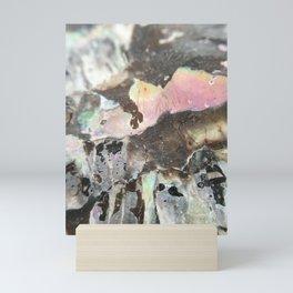 Detail of an iridescent seashell Mini Art Print