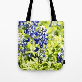 Texas Bluebonnet Up Close Tote Bag