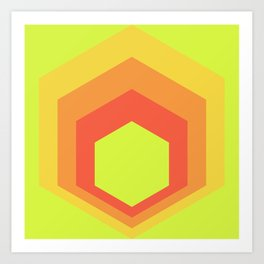 Homage to the Hexagon Art Print