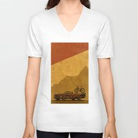 adventure V-neck T-shirts featuring Adventure by barmalisiRTB