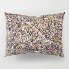 Intergalactic - Jackson Pollock style abstract painting by Rasko Pillow Sham