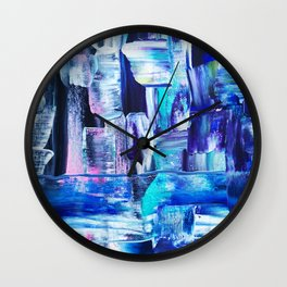 Blue. love through tired eyes Wall Clock