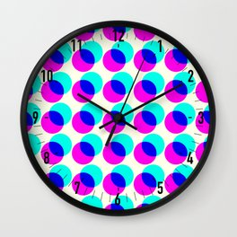 dots pop pattern Wall Clock