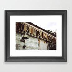 Post Office Framed Art Print