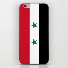 Syrian flag - may PEACE prevail iPhone Skin
