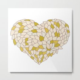 heart made of leaves Metal Print