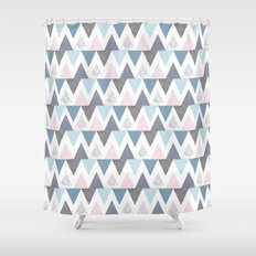 Tri Colour Two Shower Curtain