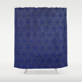 Hexagold Shower Curtain