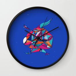 Patchwork Man Wall Clock