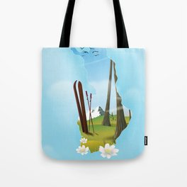 Finland map travel poster. Tote Bag