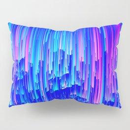Neon Rain - A Digital Abstract Pillow Sham