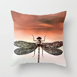 DRAGONFLY I-A Throw Pillow