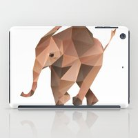low poly iPad Cases featuring Low Poly Elephant by The animals moved to - society6.com/dian