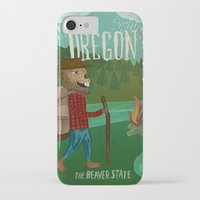 oregon iPhone & iPod Cases featuring Oregon by Santiago Uceda