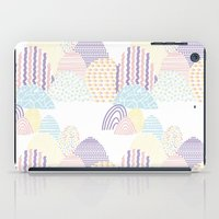 memphis iPad Cases featuring Memphis pastel by Flor Tate