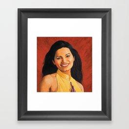Miss world - Diana Hayden Framed Art Print