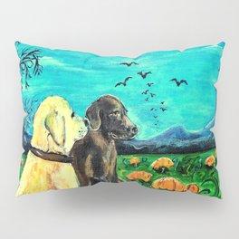 Dogs in Pumpkin Patch Pillow Sham