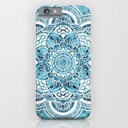 Mandala Aqua Turquoise Colorburst iPhone Case