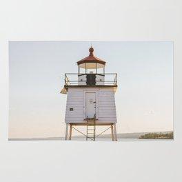 Lake Superior Agate Bay Lighthouse Sunset Rug