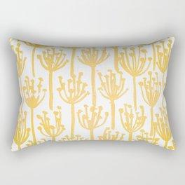 Golden Dandelions Rectangular Pillow