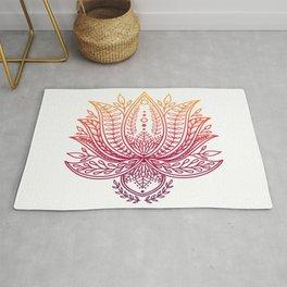 Botanical Lotus - Autumn Ombre Rug