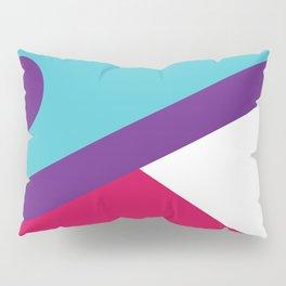 Fox Face Light Blue Pillow Sham
