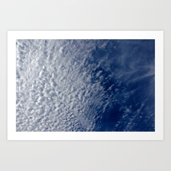 Clouds and Deep Blue Sky Art Print