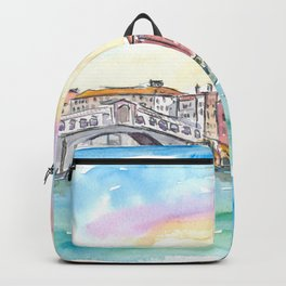 Venice Rialto and Grand Canal At Sunset Backpack