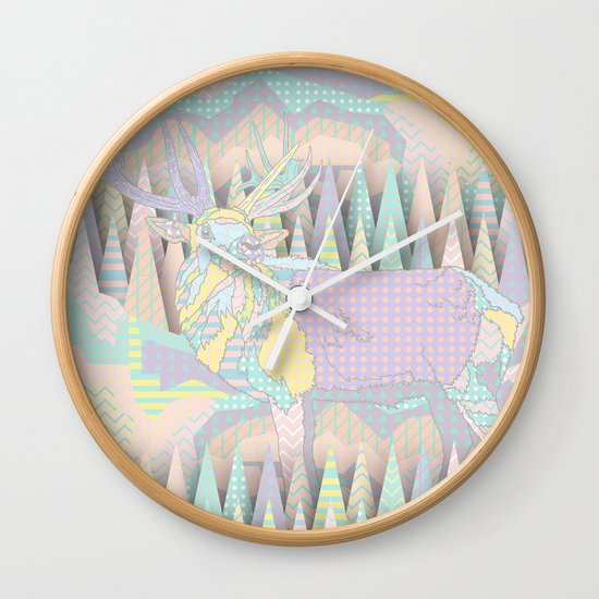 Deer Forest Wall Clock
