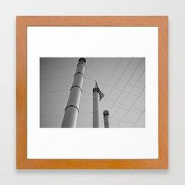 Stacks & Lines Framed Art Print