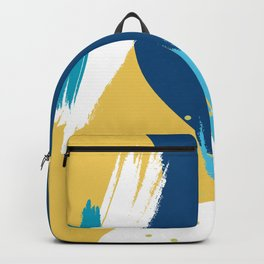 Colorful watercolor brushstrokes composition Backpack