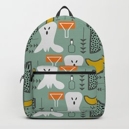 Mid-century spooky pattern Backpack