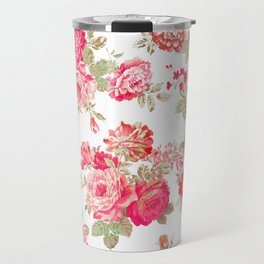 Elise shabby chic on white Travel Mug