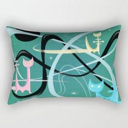 Atomic Rocket Cats In Space Rectangular Pillow