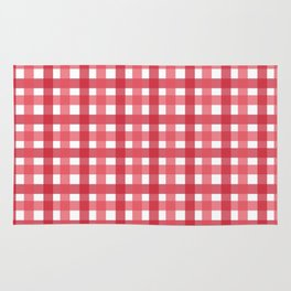 Red Picnic Cloth Pattern Rug