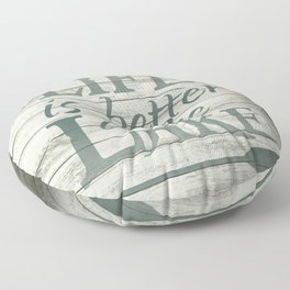 Lake Life Floor Pillow