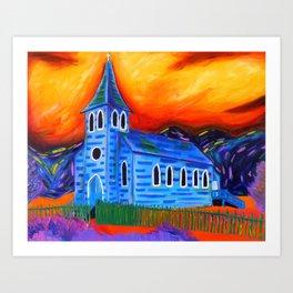 Churchly Blues Art Print