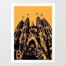 Barcellona B Art Print