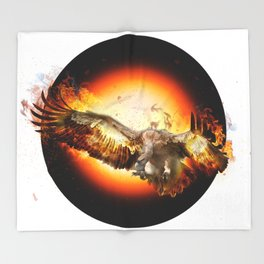 fire bird SE Throw Blanket