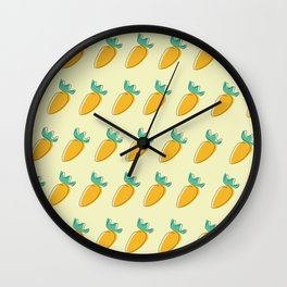 Carrot tops Wall Clock