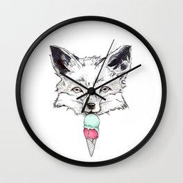 Raspberry Fox Wall Clock
