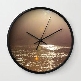 Sun light at Kinabatangan river, Borneo, Malaysia Wall Clock