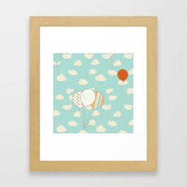 Balloons that Fly Framed Art Print