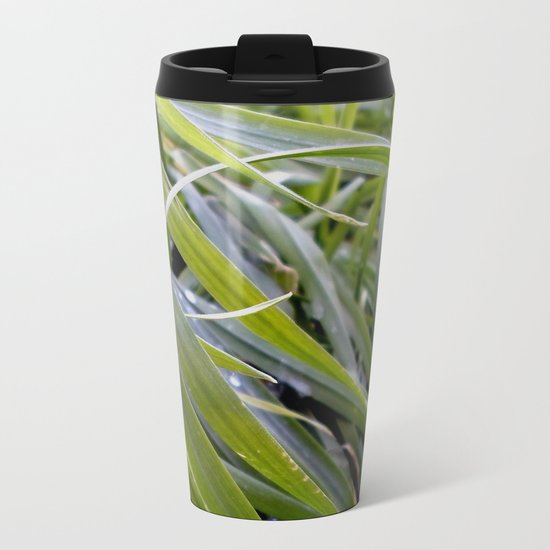 water and greenery Metal Travel Mug