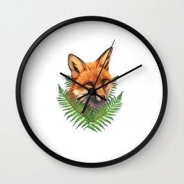 Fern Fox Wall Clock